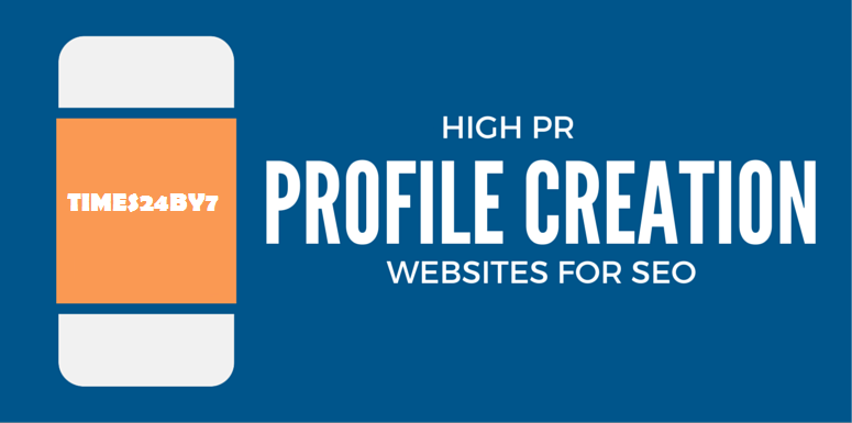 High PR Profile Crearion Websites For SEO