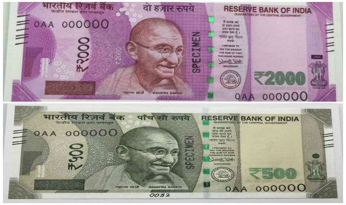 new currency notes of 500 and 2000