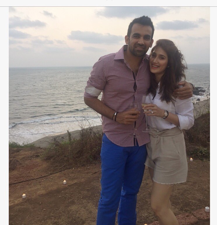 zaheer and sagarika engaged