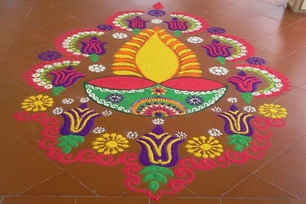 rangoli diwali for competition