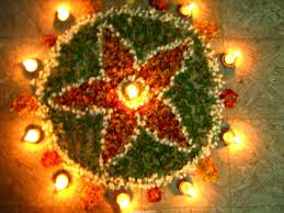 Diwali Diya Decoration with flower