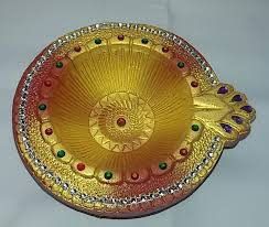 Diya Decoration using glitters