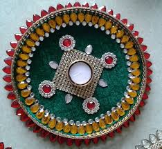 Diya Decoration with kundan