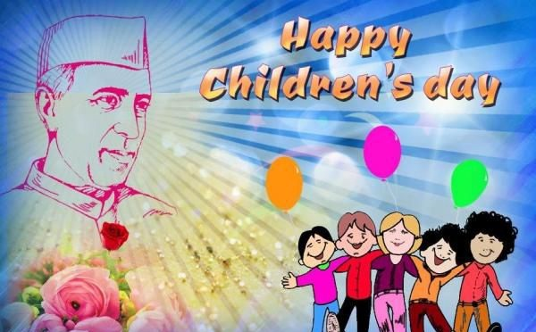happy childrens day with Nehru ji